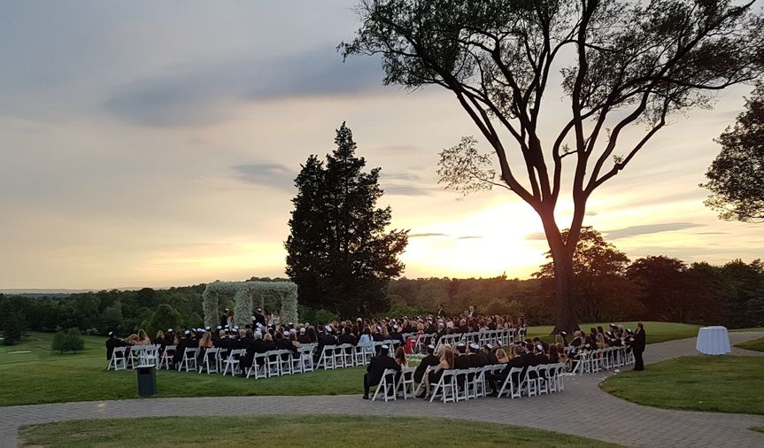 Outdoor ceremony sunset