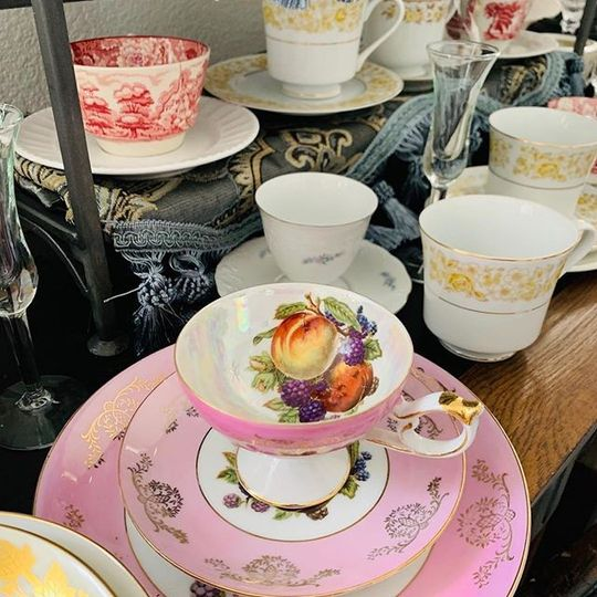 Tea and table settings