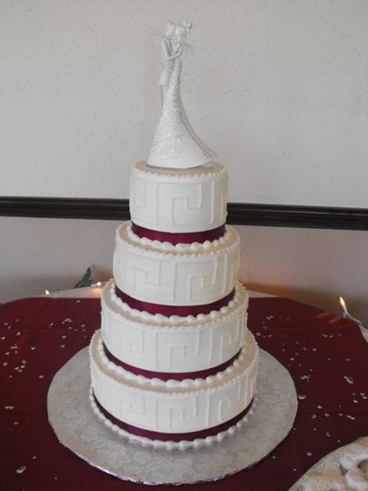 Greece inspired wedding cake
