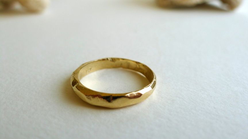 Handcarved wedding ring