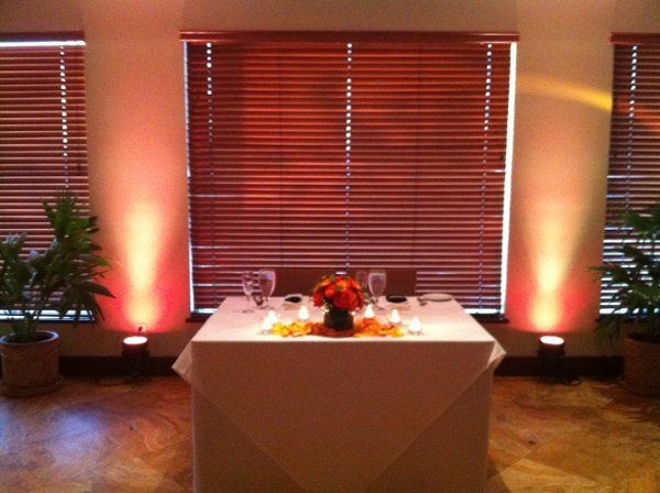 Even a couple of Up Lights can make a nice presentation!