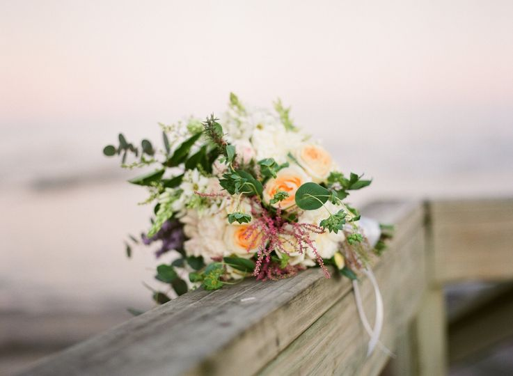 Rustic chic bouquet.Sunset light.Punta del Este, Uruguay