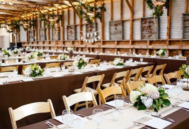 Elegant reception set up