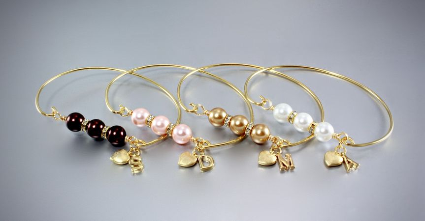 """""""Brittany"""" - Personalized Pearl Bridesmaids Bracelet"""