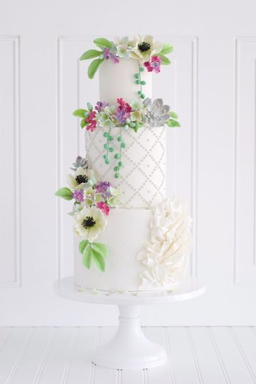 Wedding cake with design