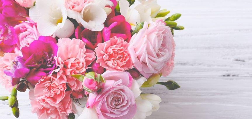 Pink bouquet sample