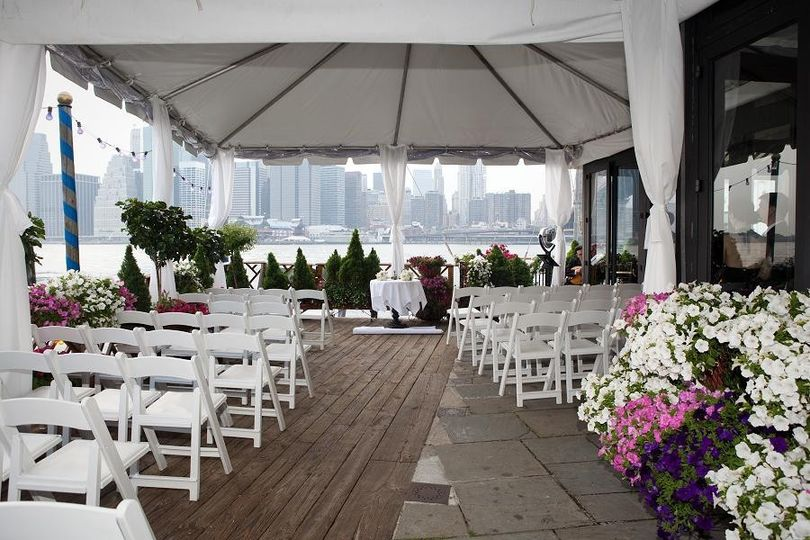 800x800 1461013081254 Ceremony On Terrace With Tent Rented White Chair