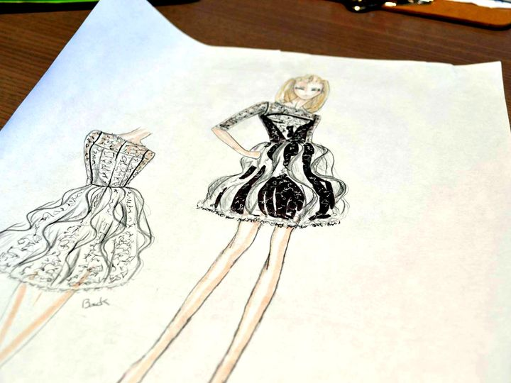 Tmx 1444062356925 Black Dress Sketch 1121793914516001618087426742260 Carlsbad wedding dress