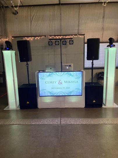 Lighting and speakers