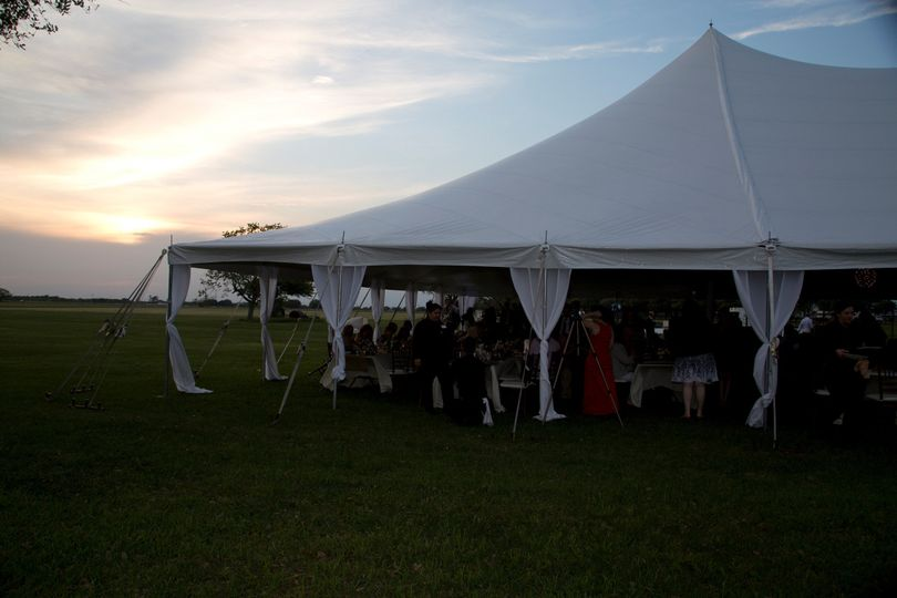 Sunset over the reception.