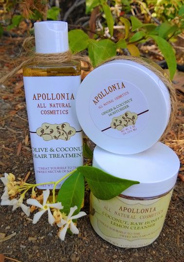 This wonderful arrangement includes the Olive & Coconut Hair Treatment, the Coconut, Raw Honey &...