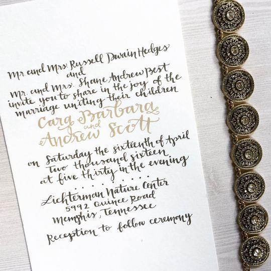 Custom Invitation Calligraphy