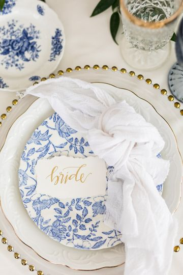 Place Setting Calligraphy
