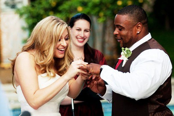 LA Wedding Woman, Elysia, officiating for Shiri and Dante in Beverly Hills!