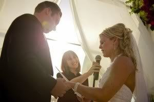 Reciting her vows