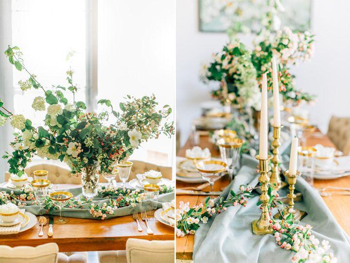 bridal brunch tablescape