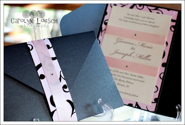 Tmx 1317825889961 Pinkblk Clearwater wedding invitation