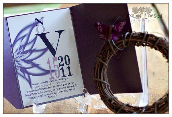 Tmx 1317825988397 Purple Clearwater wedding invitation
