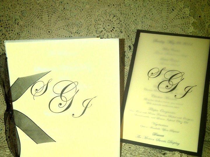 Tmx 1352781222238 WeddingProgramandMenu East Brunswick wedding invitation