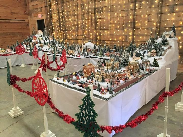 Christmas village side view