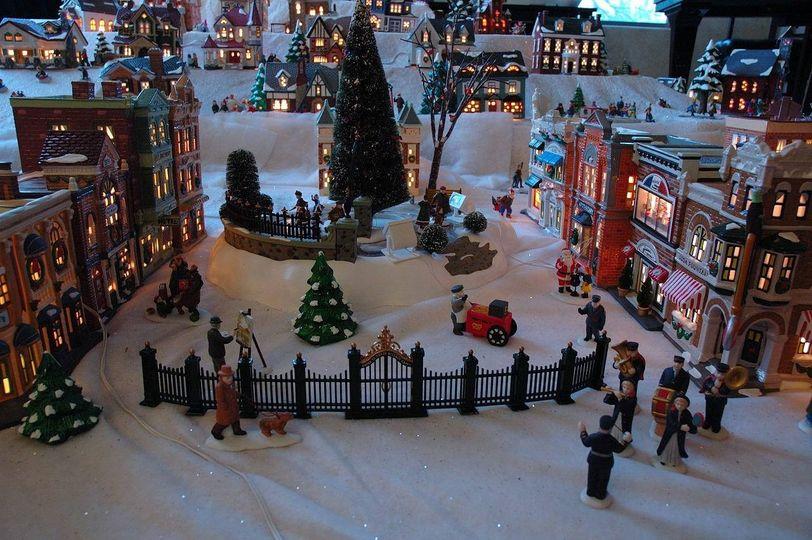 Christmas village close-up
