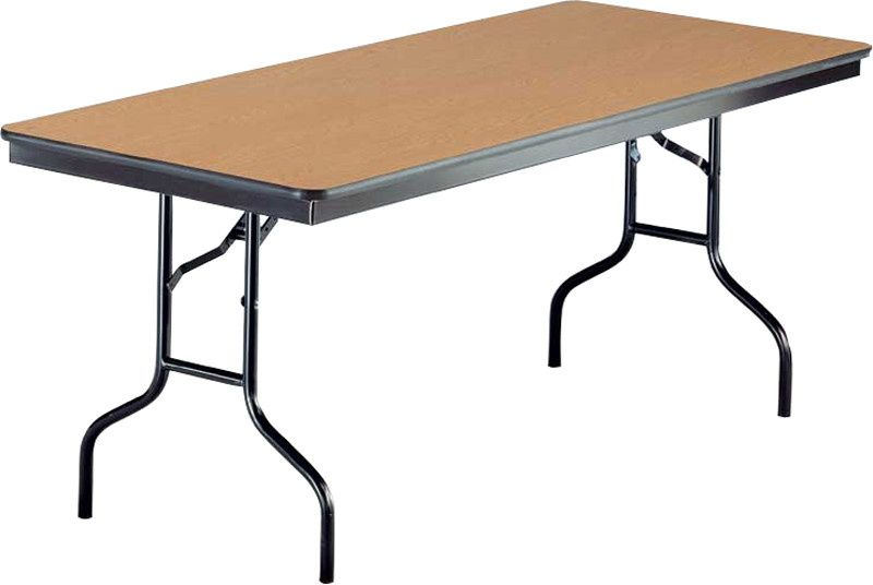 8' rectangular folding table (seats up to 8 guests)