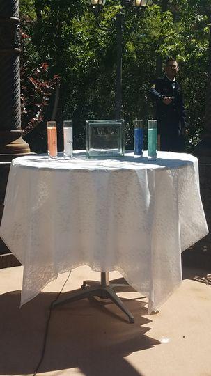Sand ceremony setup