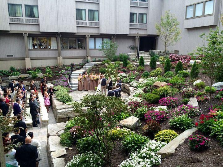 Ceremony in stone garden