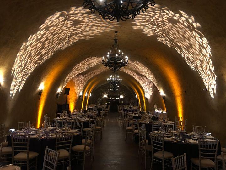 Wedding reception in Napa cave