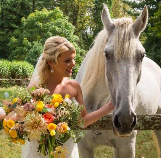 The bride with a white horse