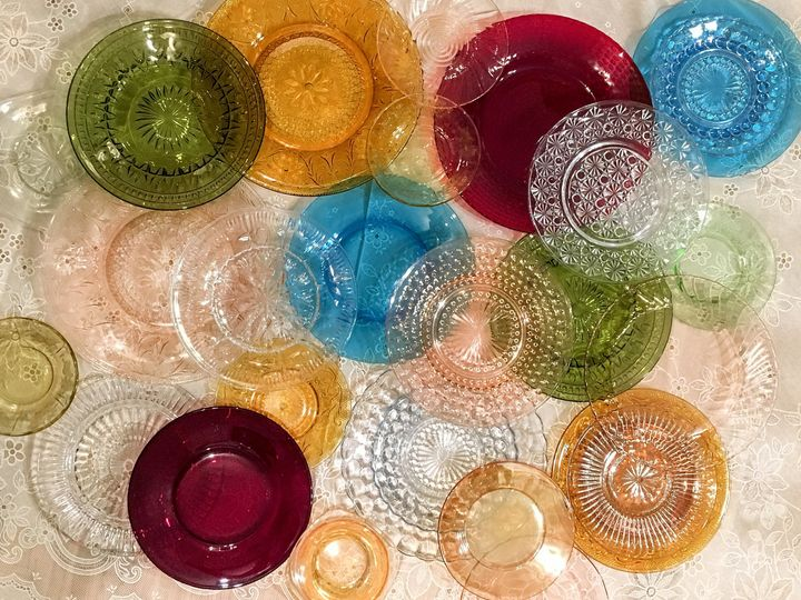 Transparent glass collection