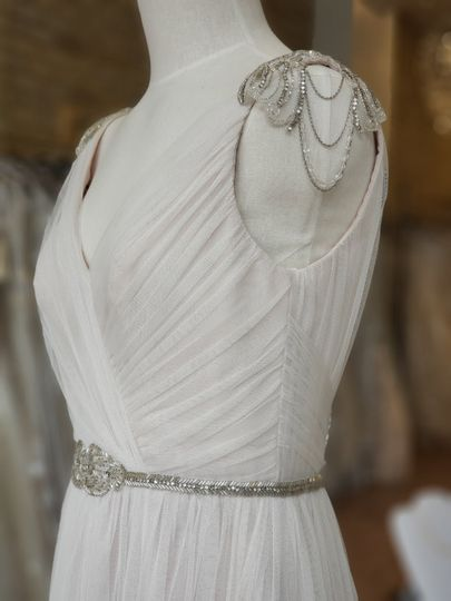 A chandelier strap gown by Hayley Paige