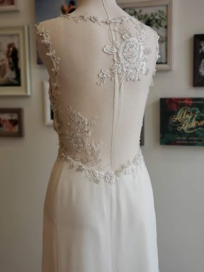 An embroidered illusion back by Jenny Yoo
