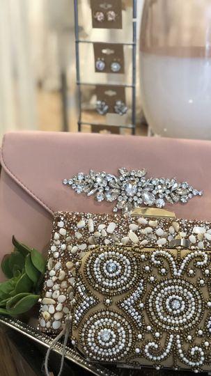 Jeweled clutches