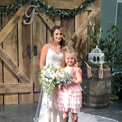 The Bride and Her Girl!