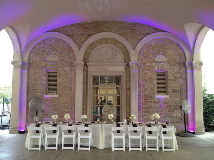 This package included the basic sound and dance lighting package with the large up-lighting package.