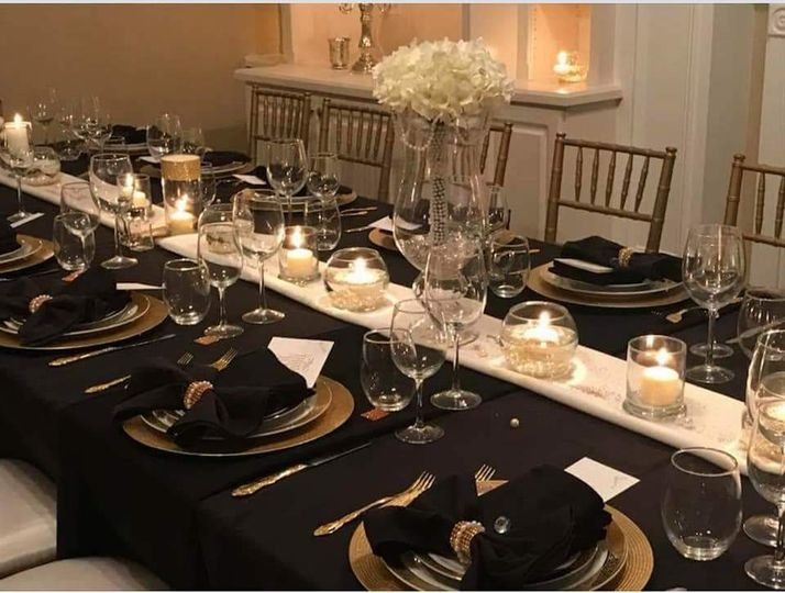 Black Table Arrangement