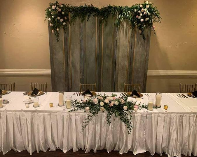Wedding Party Table w/Flowers