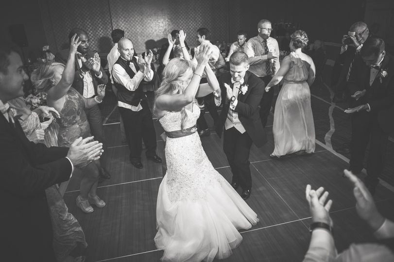 Dance party at the reception