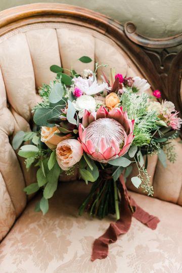 Perfect summer wedding bouquet