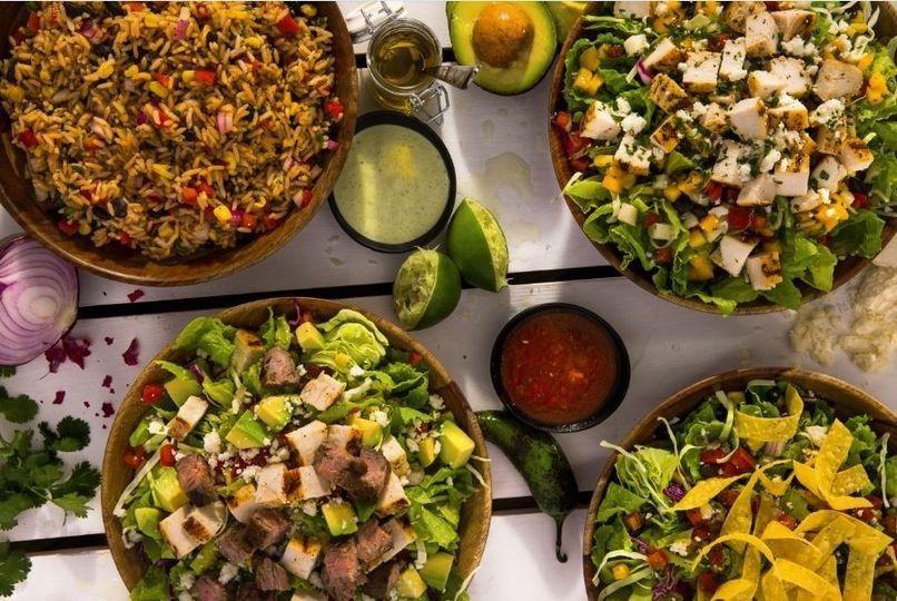 Grilled fajita salads