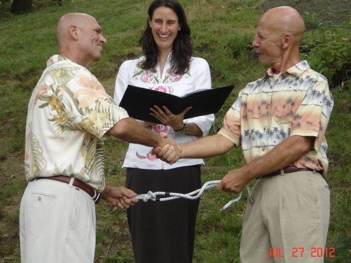Tmx 1353469094964 JesterofthePeaceDannyandGaryropeceremony New York, NY wedding officiant
