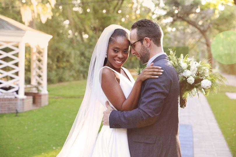 Newlyweds on the estate