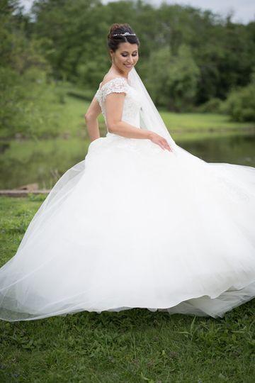 Beautiful meringue gown
