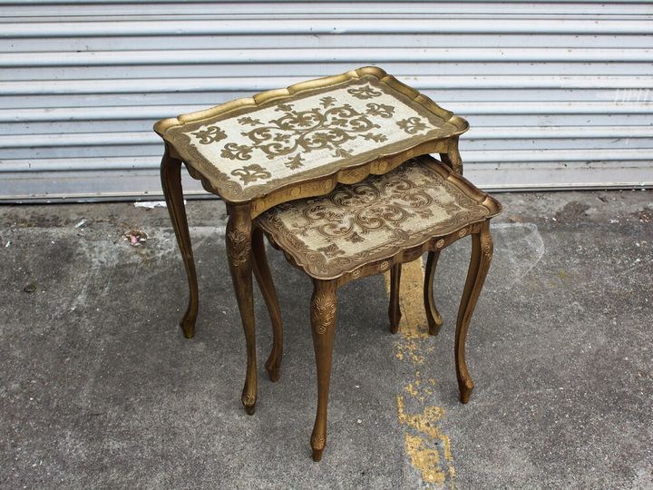 Victorian nesting side tables