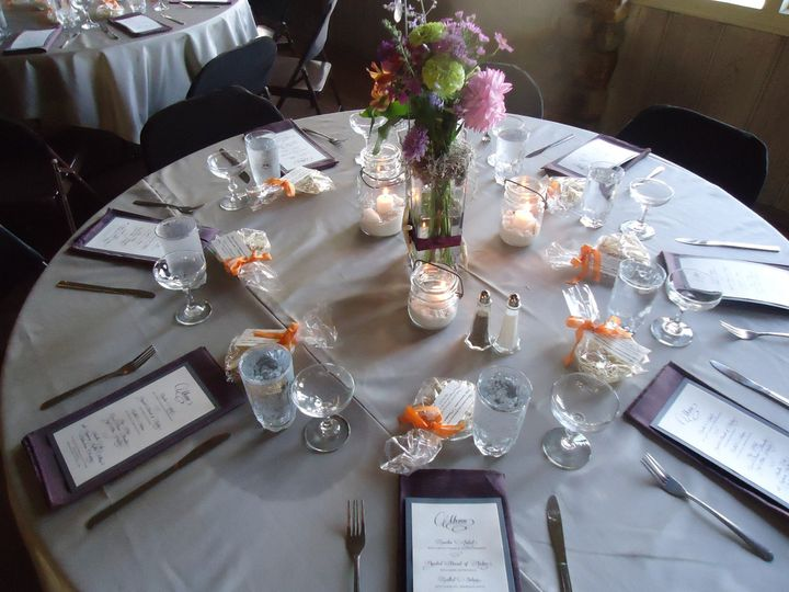 Table set-up with candle lighting