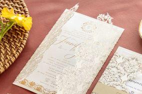 Paper Rose Invitation & Design