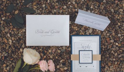 Paper Rose Invitation & Design