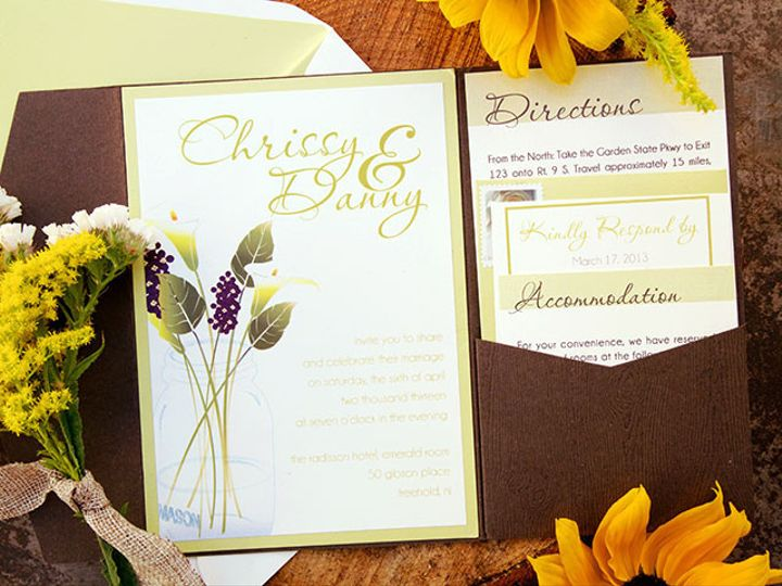 Tmx 1445352816724 Chrissy And Danny High Res 5 Matawan, New Jersey wedding invitation