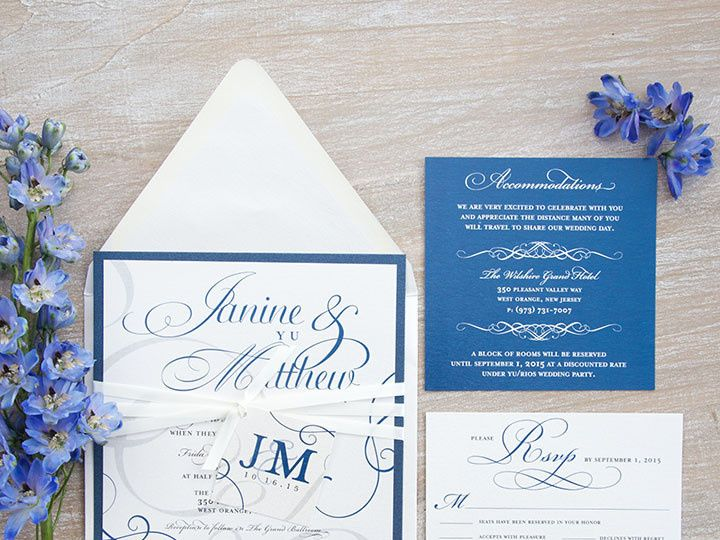 Tmx 1445352852289 Janine And Matthew High Res 14 Matawan, New Jersey wedding invitation